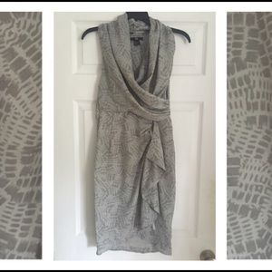 Beautiful draped H&M reptile print faux wr…